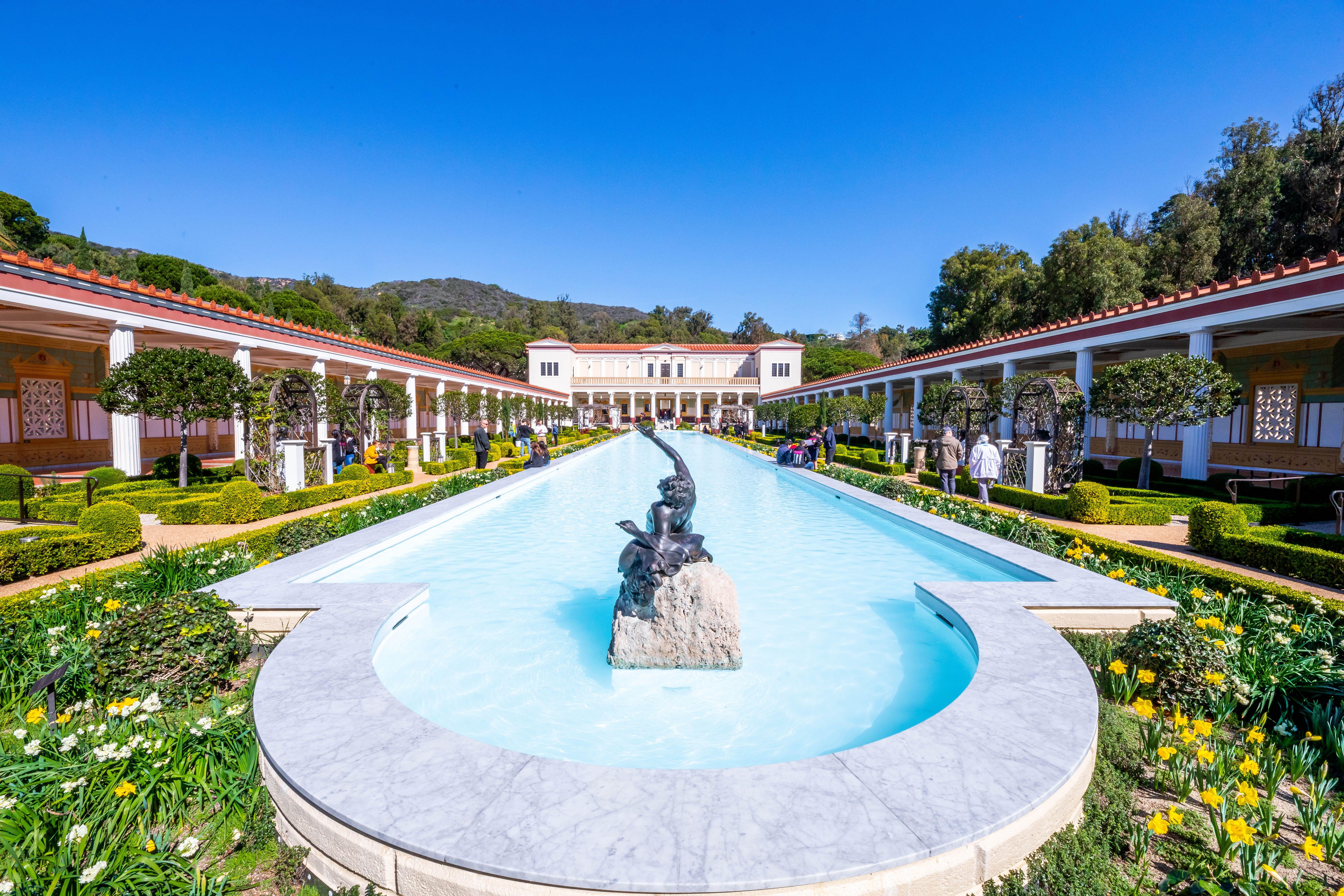 Jardín de la Villa Getty