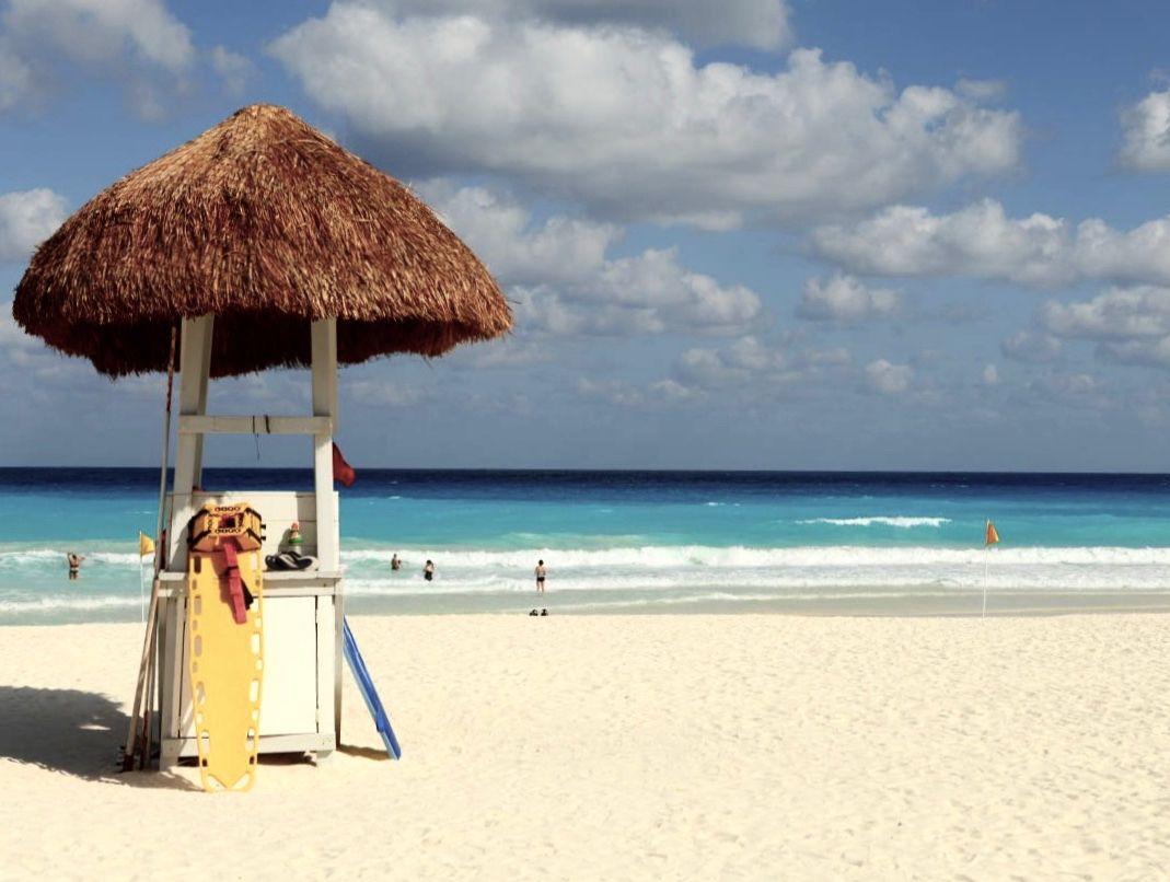 La increíble playa de Cancún
