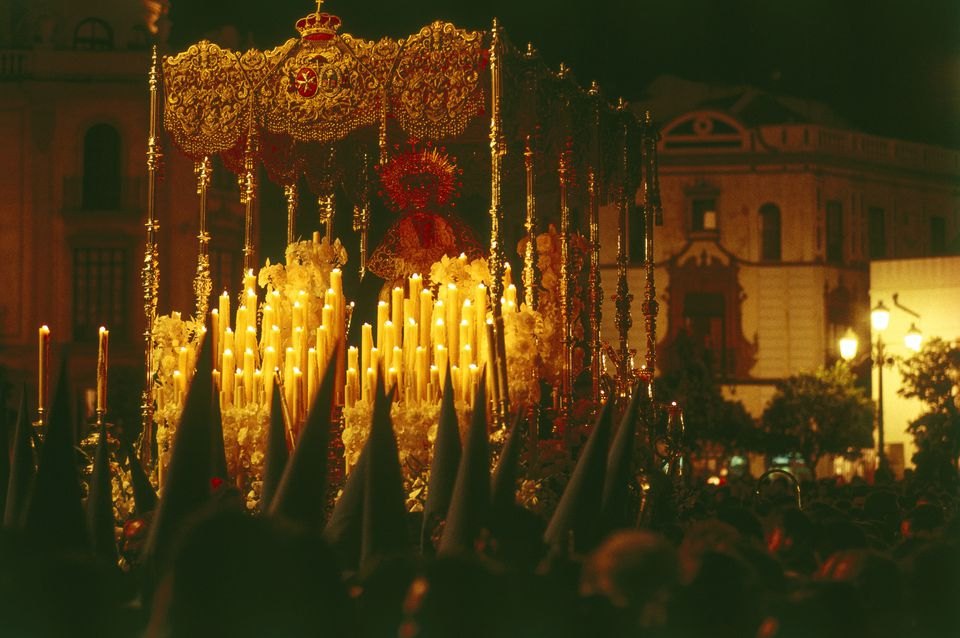 Virgin Mary Procession, Semana Santa, Holy Week, Sevilla, Andalusia, Spain