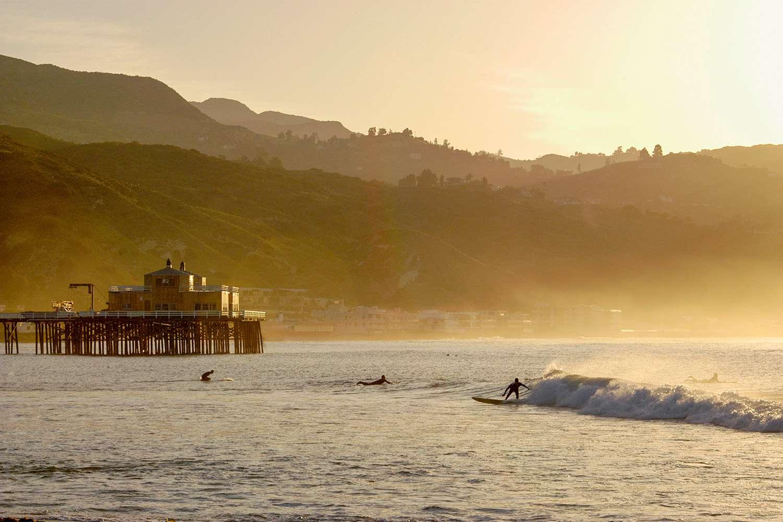Malibu's Surfrider beach