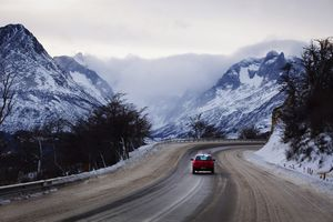 Driving in Tierra del Fuego province