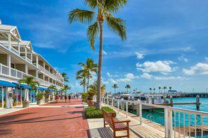 Seaside promenade at Key West Pier