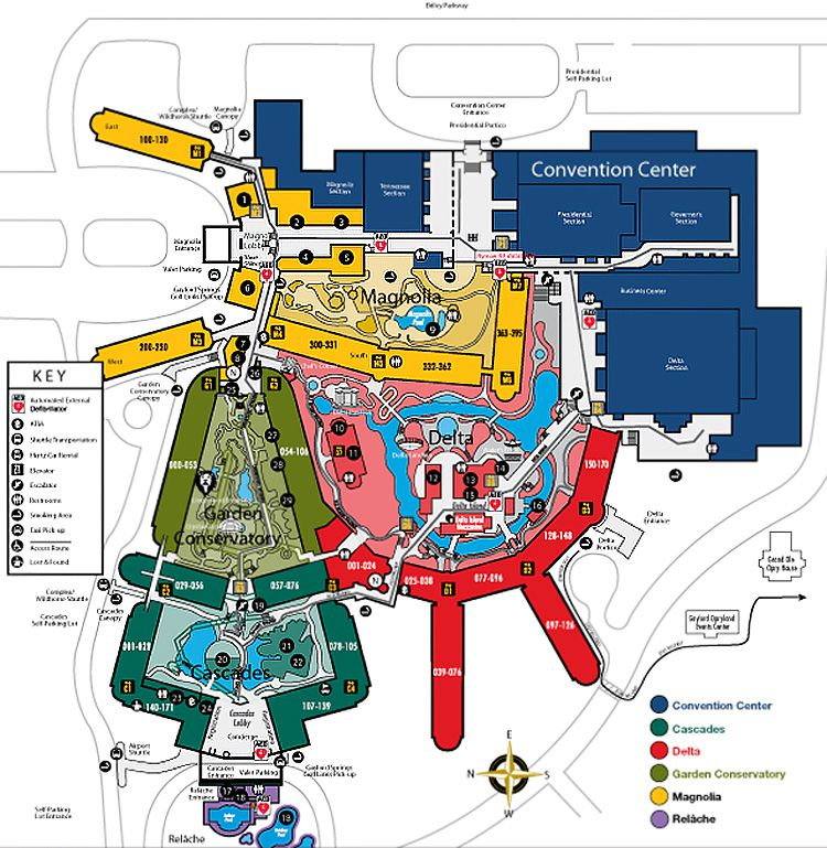 Maps Of Nashvilles Opryland Hotel