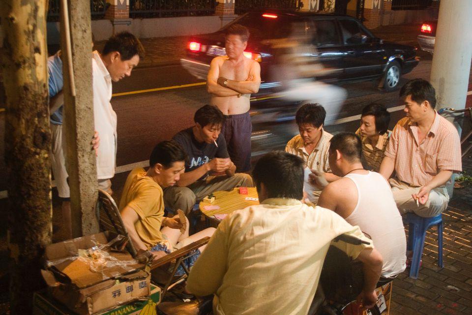 Shanghai street scene in summertime