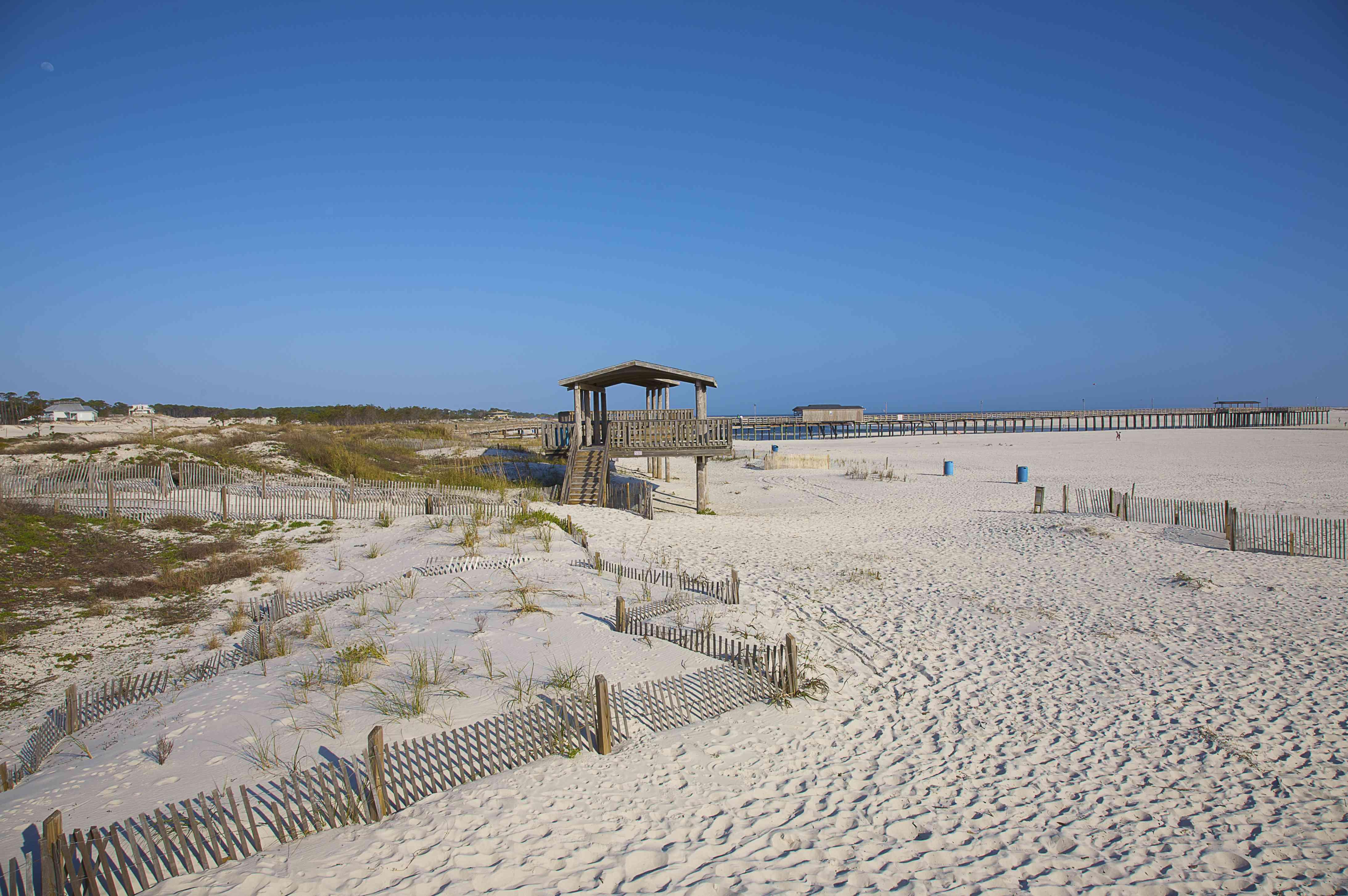 White sand beach, Dauphin Island (near Mobile), Alabama
