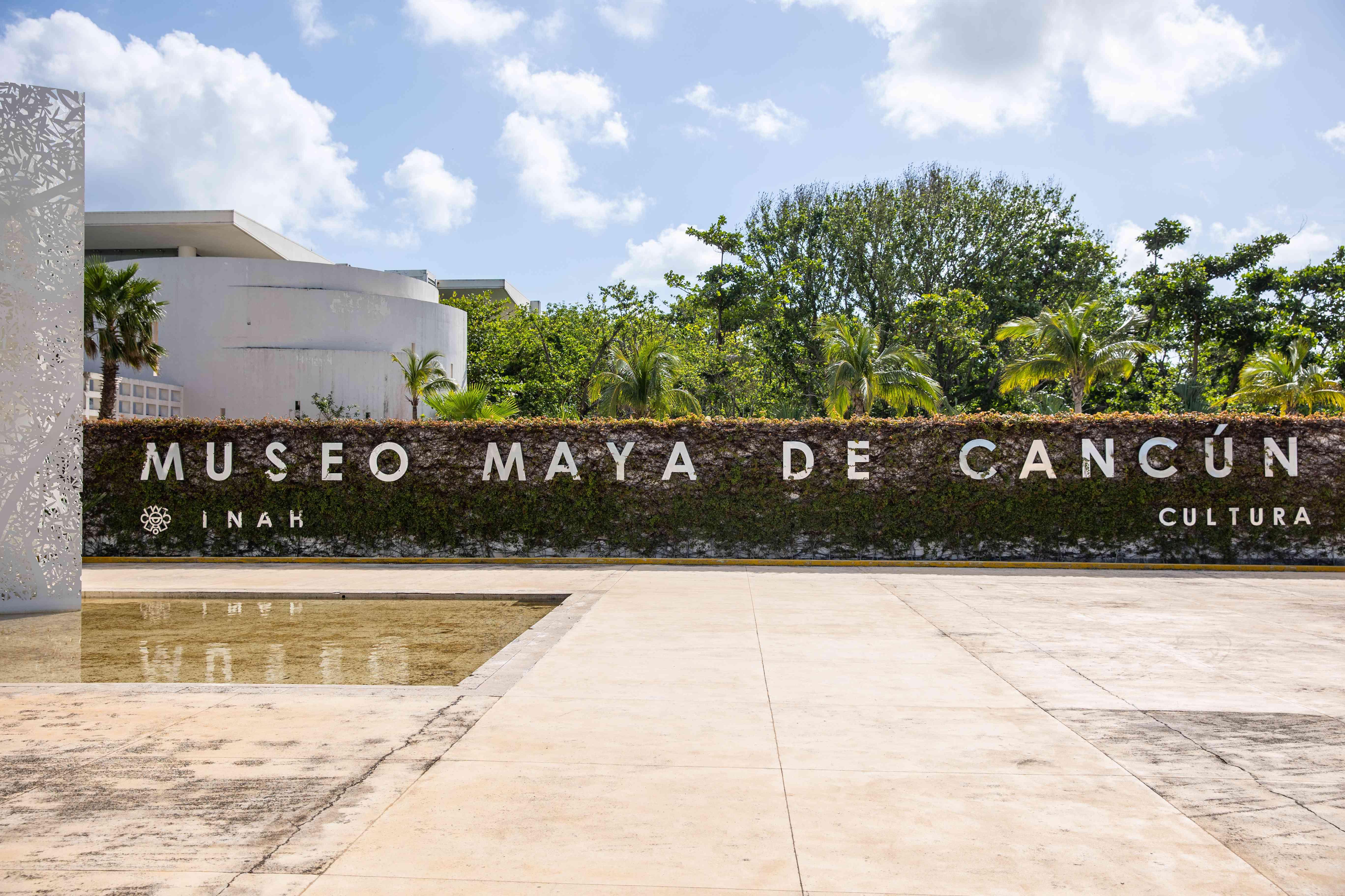 Maya Museum sign