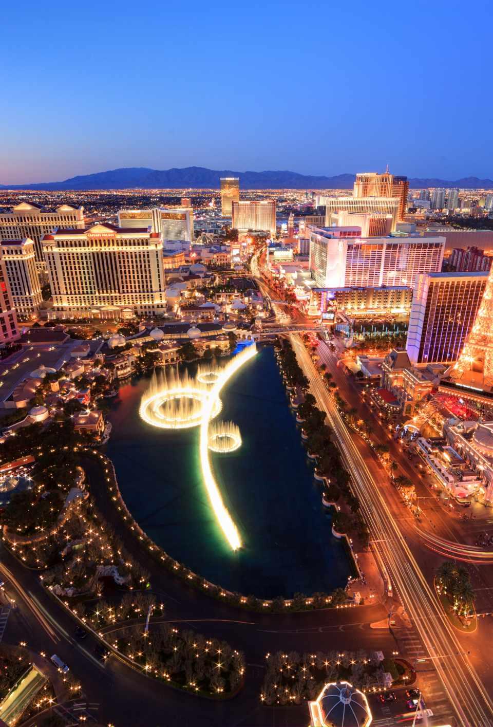 View of Las Vegas strip