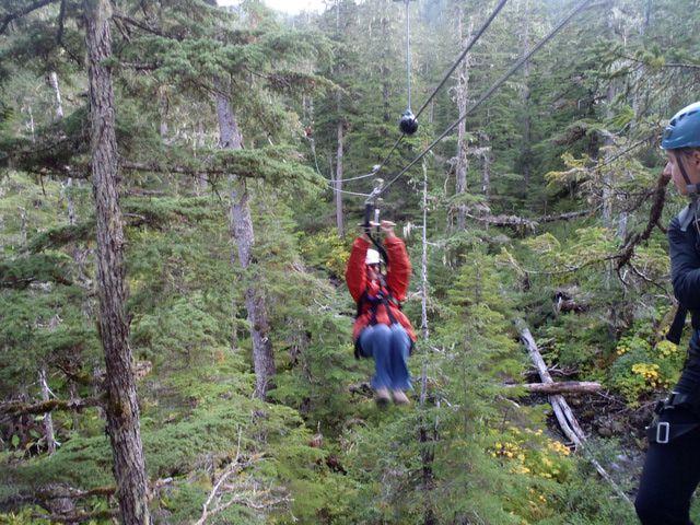 Zipline Course at Eaglecrest ski area near Juneau