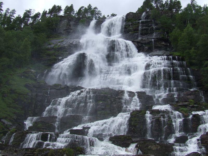 Tvinde Waterfall in Norway
