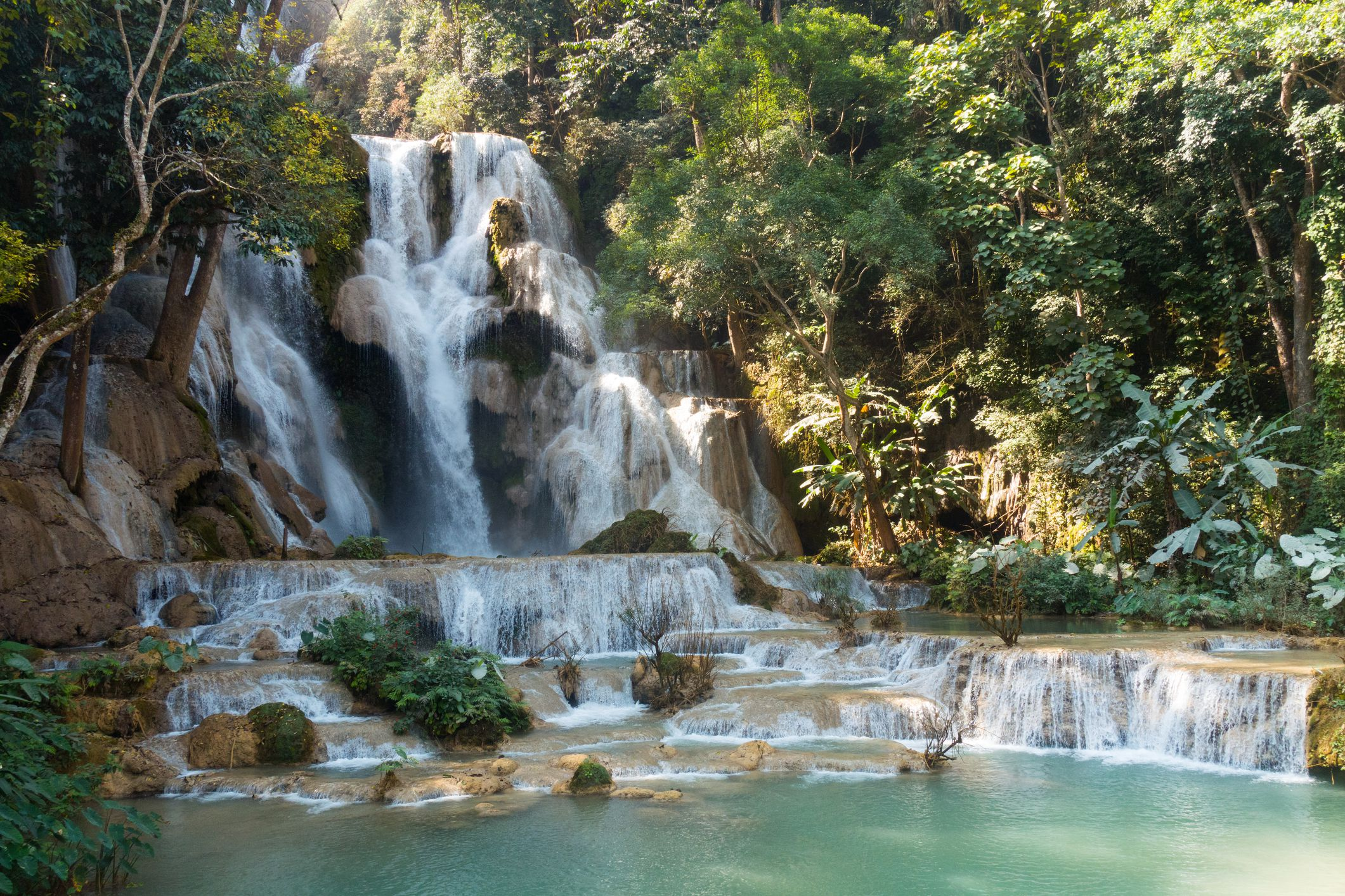 Cascada Kuang Si, provincia de Luang Prabang, Laos