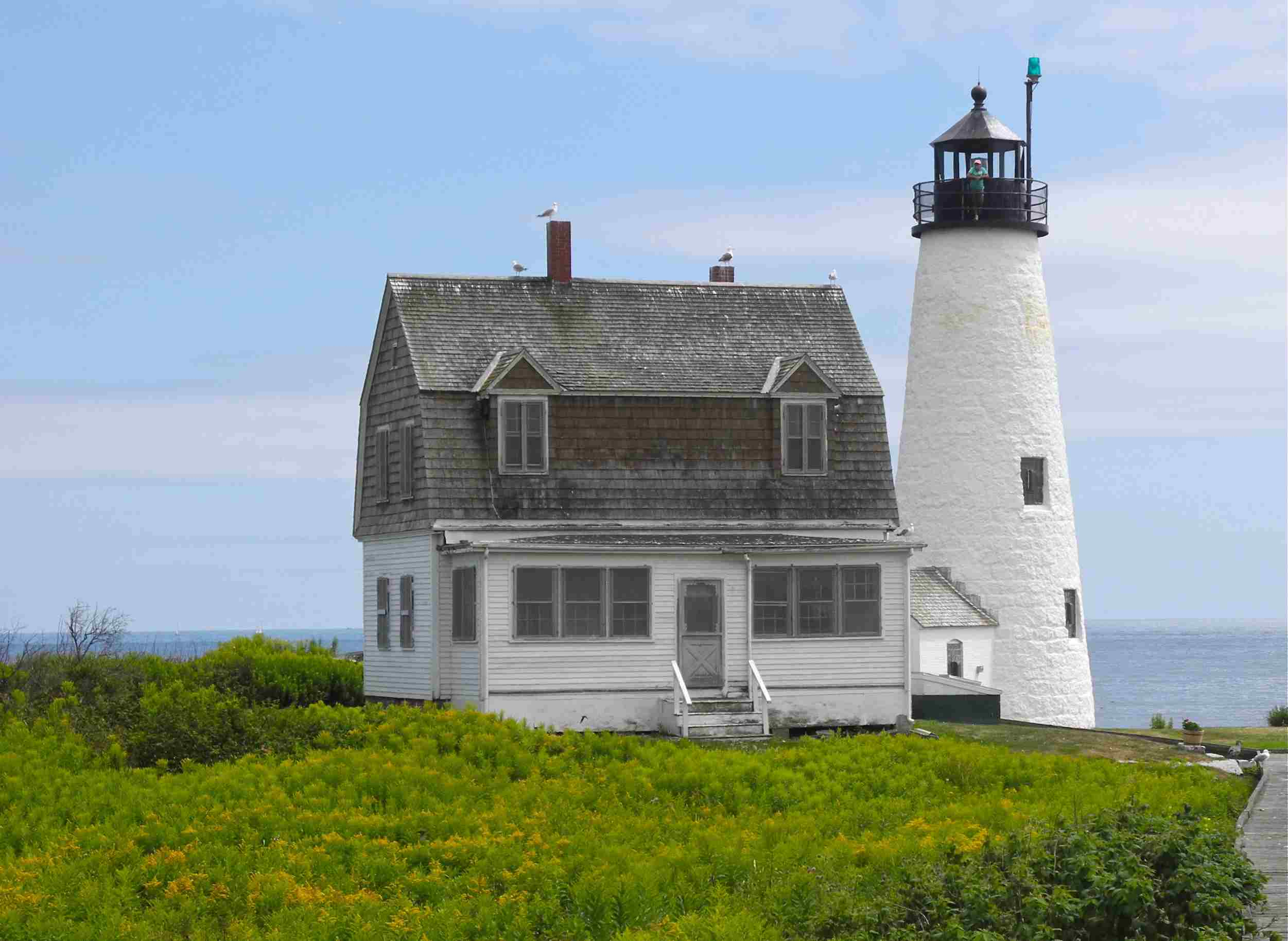 Wood Island Lighthouse in Maine.