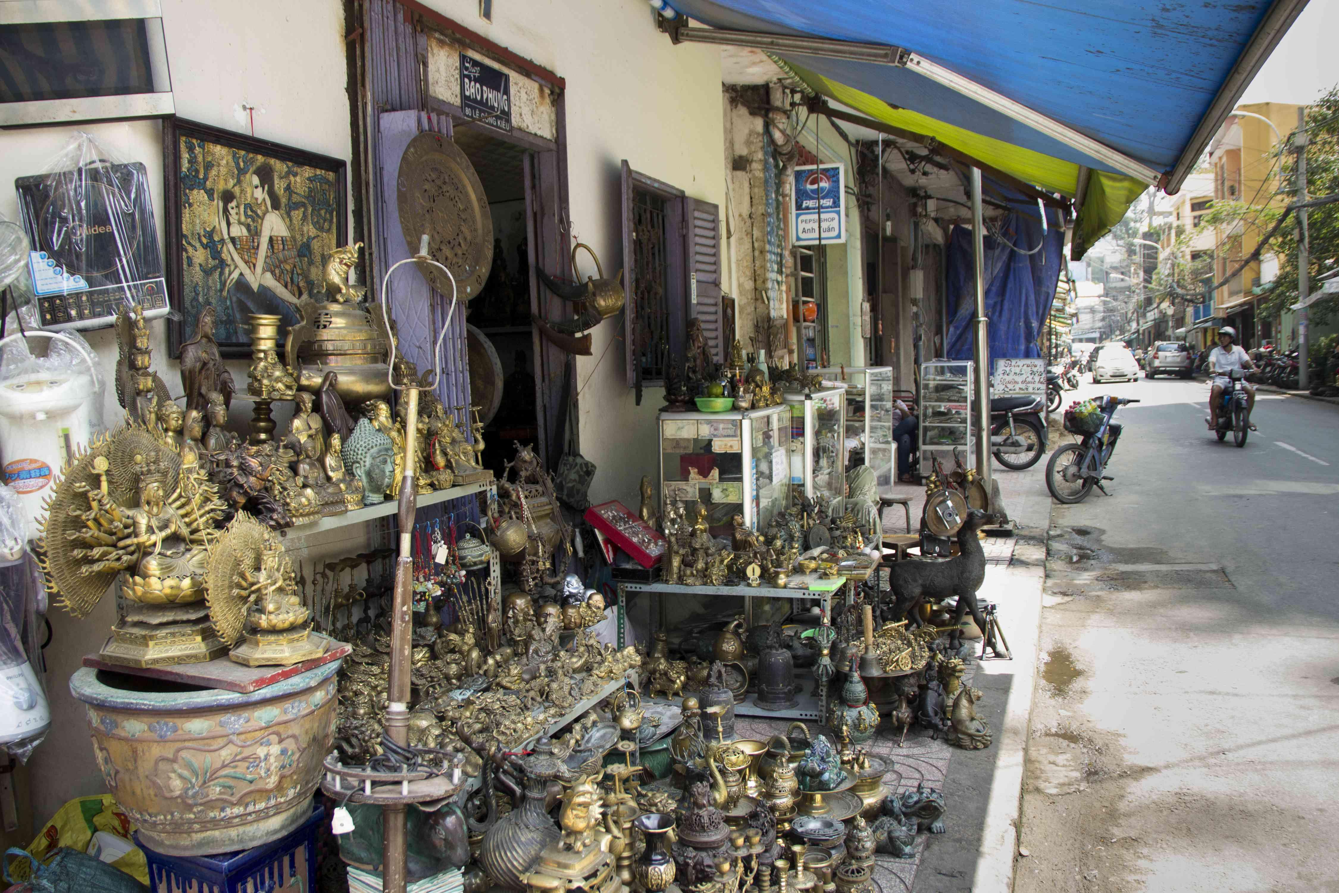 Antiques along Le Cong Kieu Street in Ho Chi Minh City
