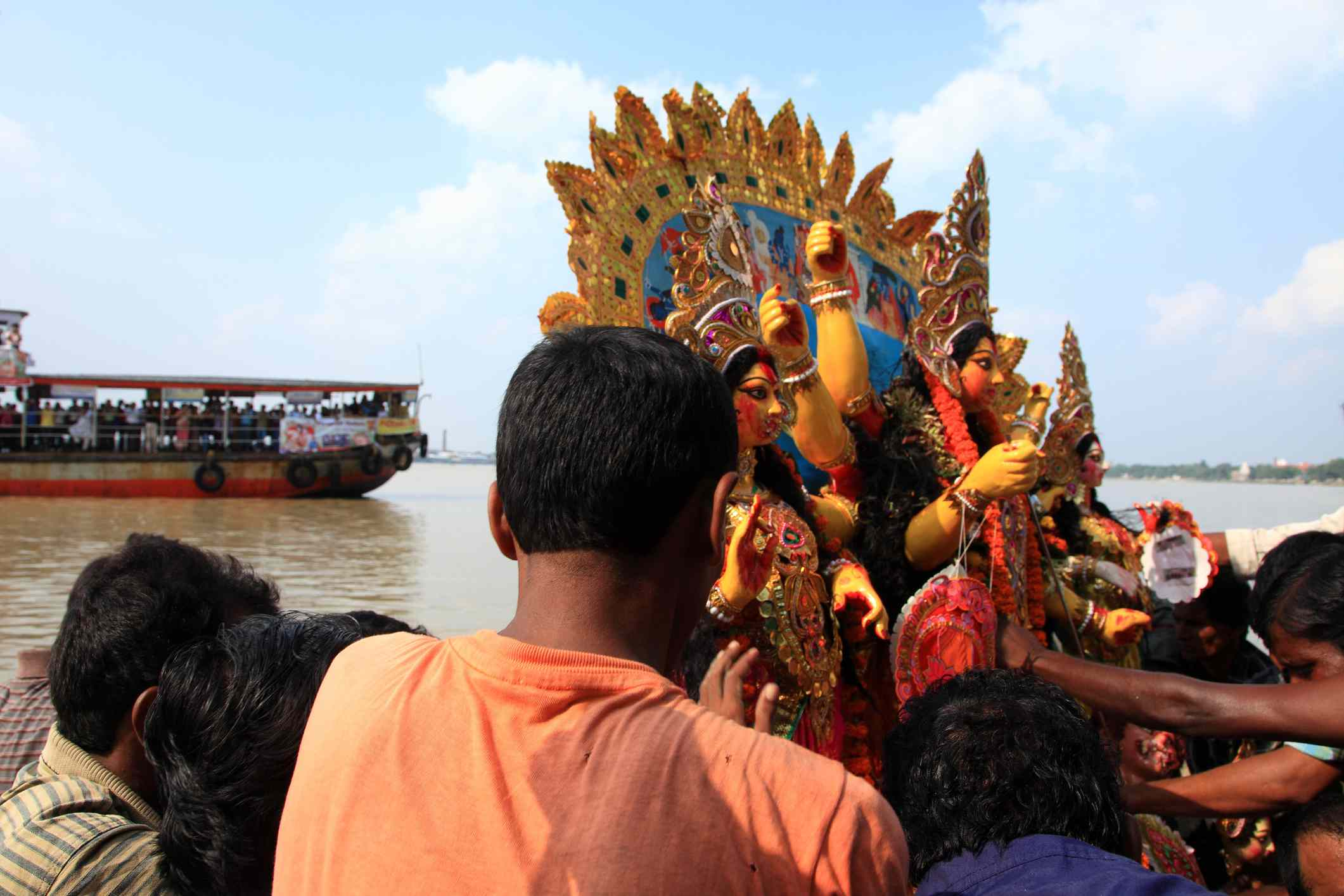 Durga immersion in Kolkata.