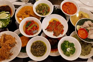 Padang food in Indonesia