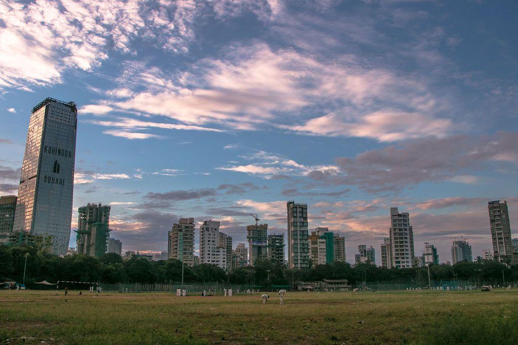 A view of the Mumbai skyline from Shivaji park