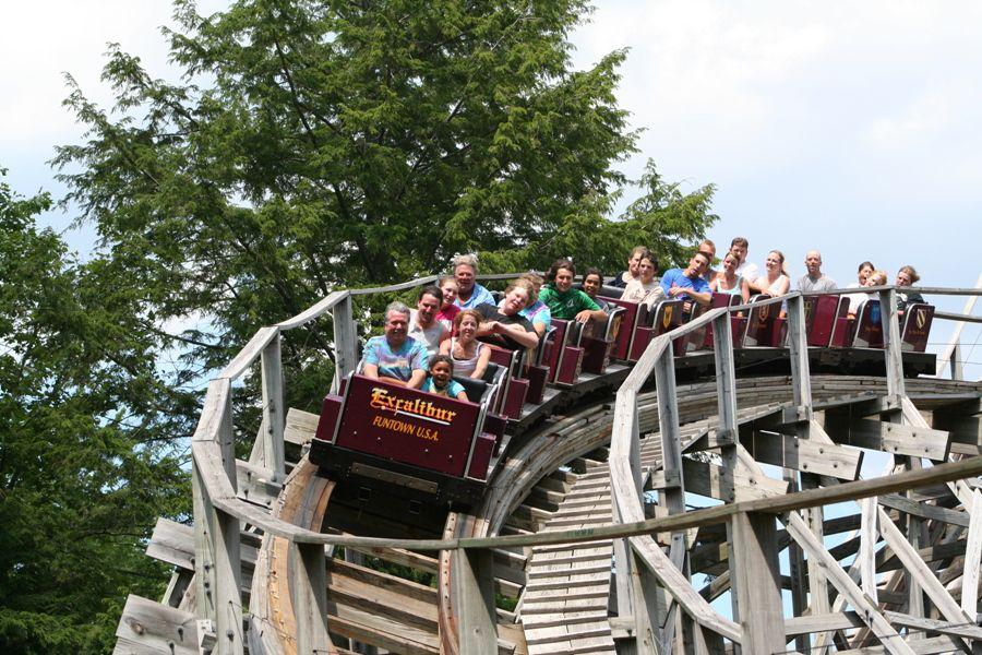 Excalibur coaster at Funtown USA Maine