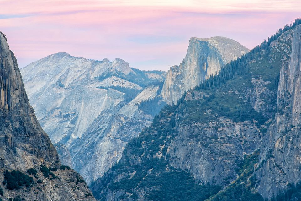 Half Dome at sunset from tunnel view
