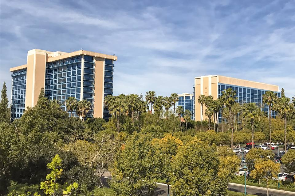 The Three Towers of the Disneyland Hotel