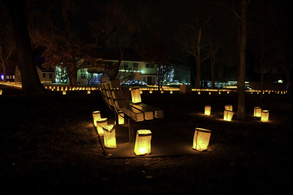 Luminaria in an Albuquerque Park