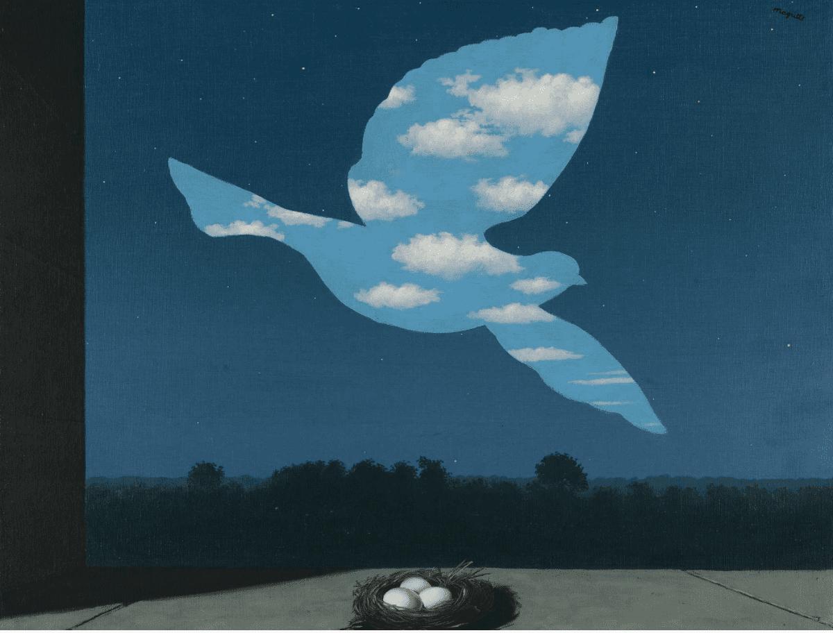 René Magritte, The Return , 1940, Bruselas, Museos Reales de Bellas Artes de Bélgica