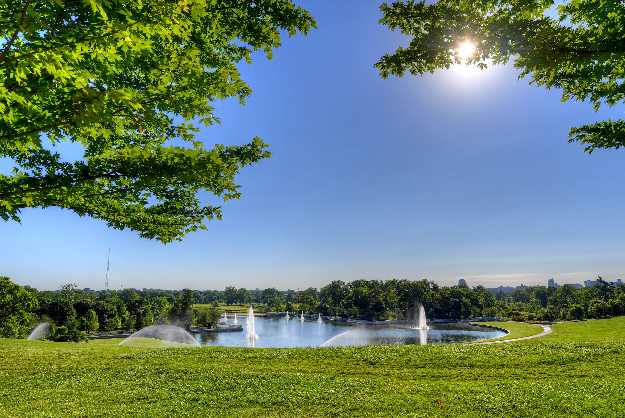 Grand Basin from Art Hill in Forest Park, St. Louis, Missouri