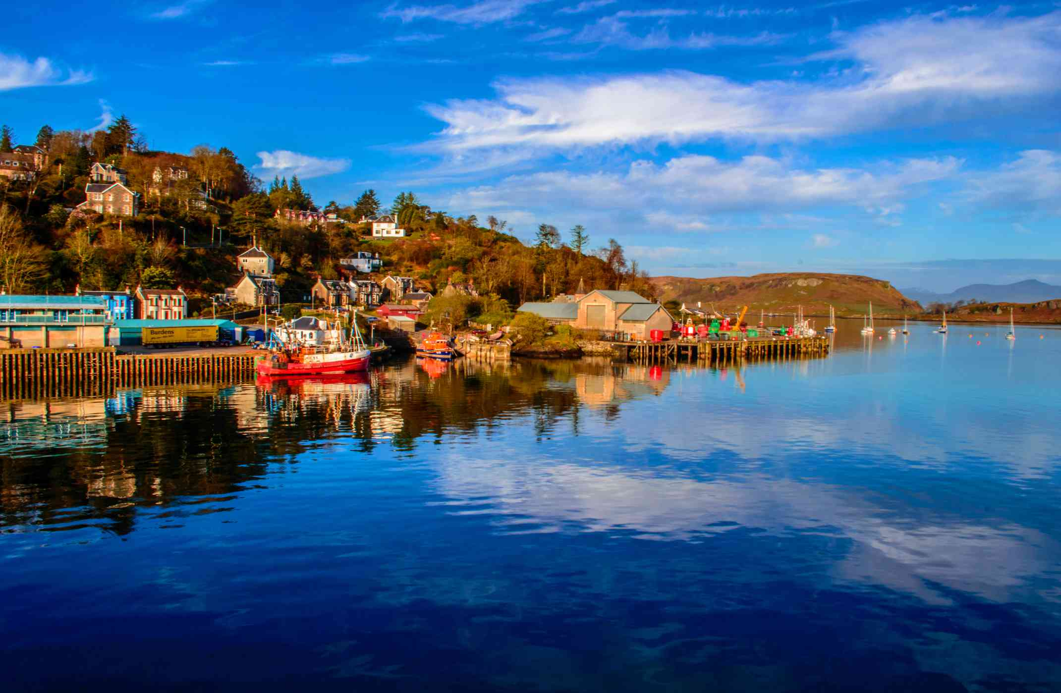 Colorful waterfront of Oban on the West Coast of Scotland