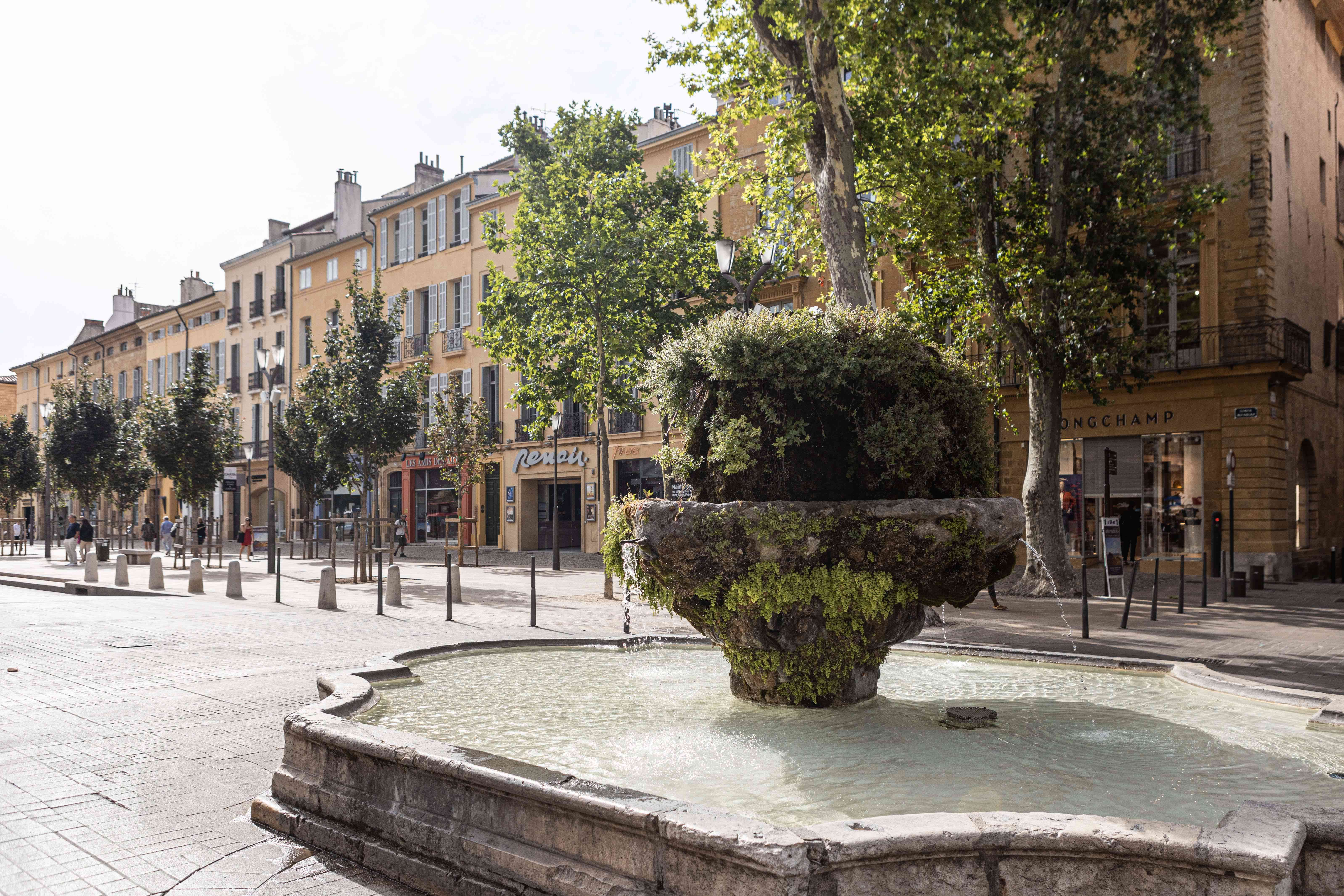A public fountain in Aix-en-Provence