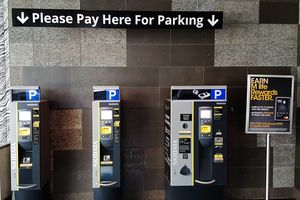 Pay stations for parking at MGM Resorts Las Vegas