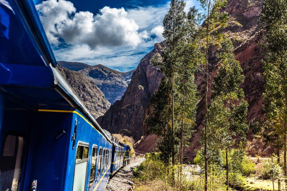 Train ride to Machu Picchu