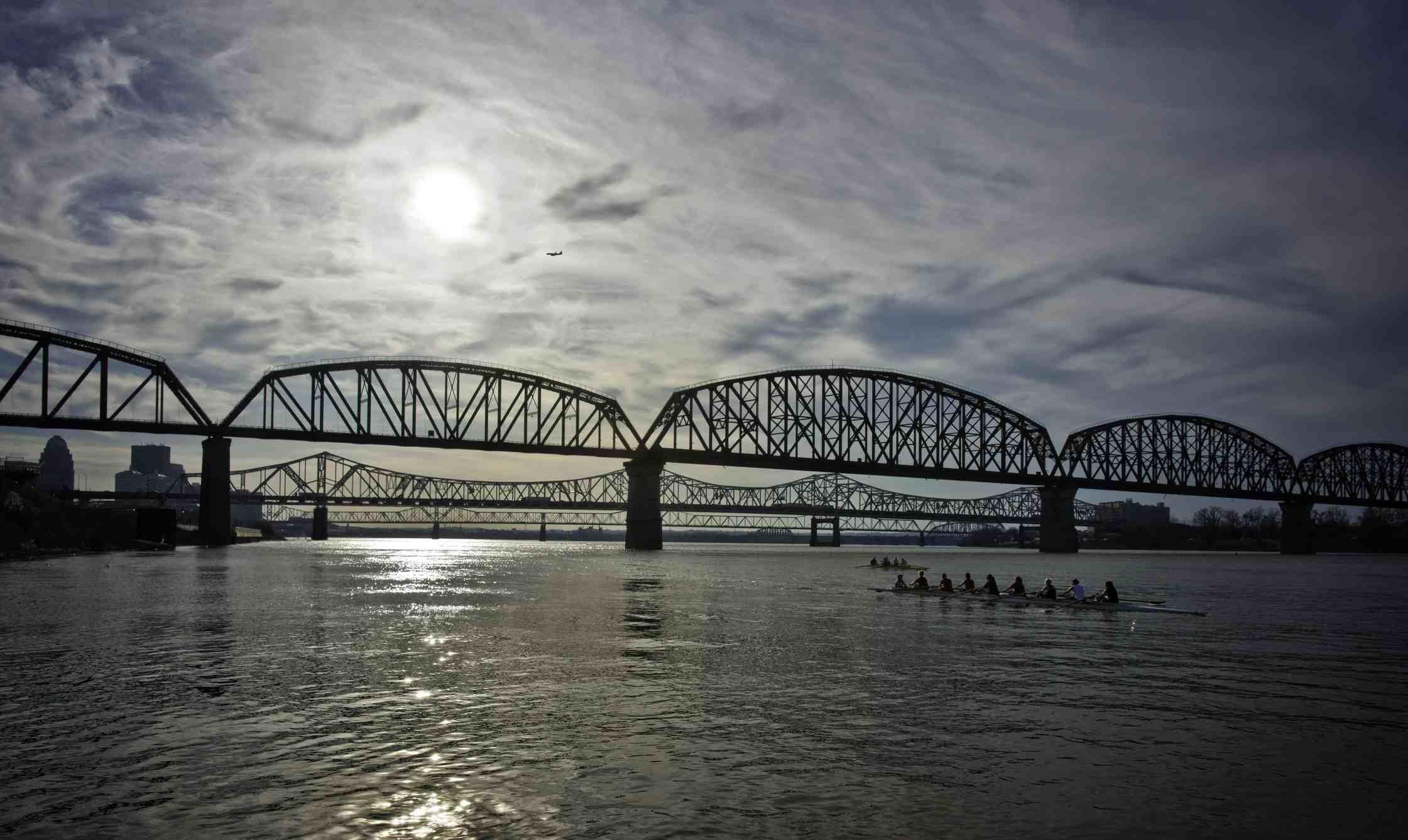 El puente sobre el río Ohio.
