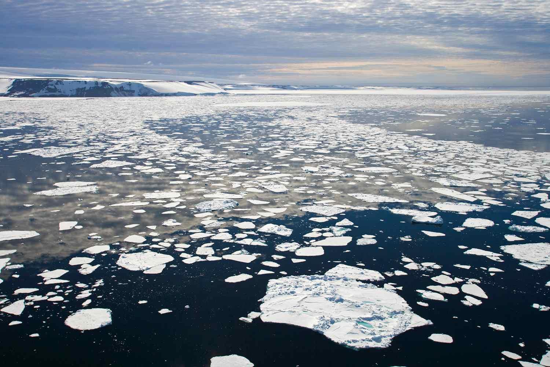 Hooker Island in the Arctic Ocean near Russia