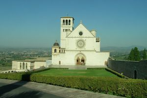 The exterior of the Basilica of Saint Francis in Assisi