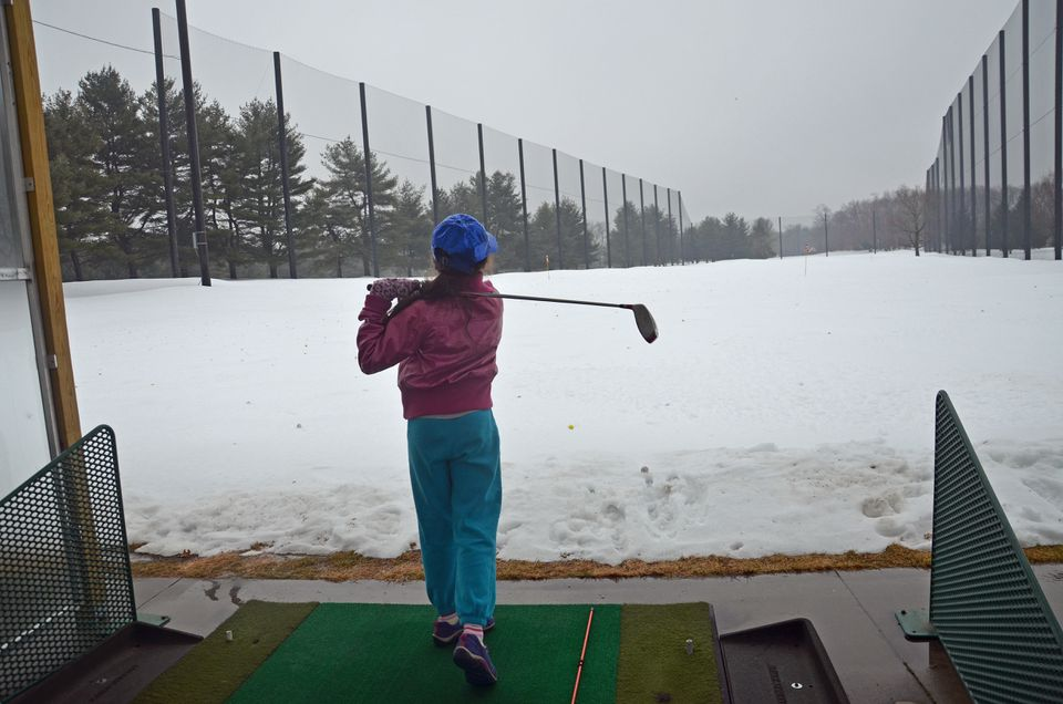Stanley Golf Course Driving Range Winter Photo