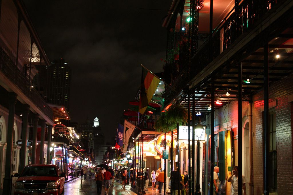 Bourbon Street Between Orleans and St.