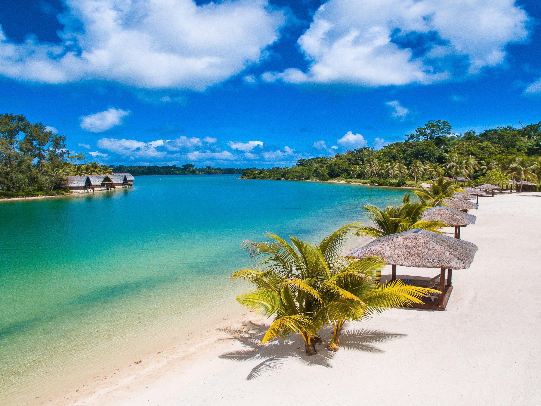 Beach view of the Holiday Inn Resort Vanuatu