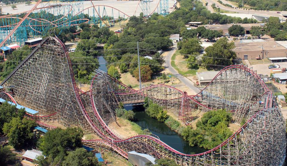 New Texas Giant coaster at Six Flags Over Texas