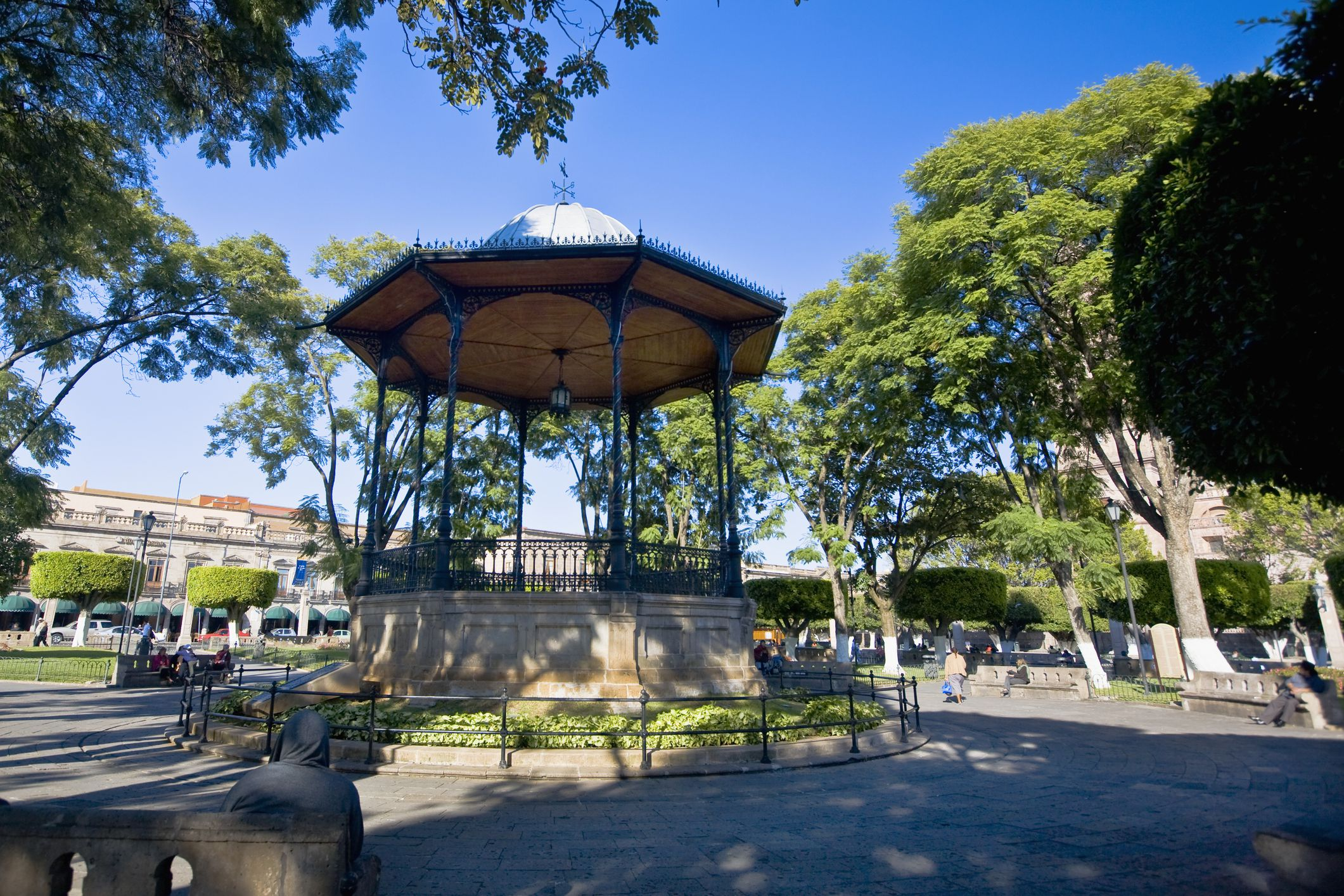 The main square in Morelia, Michoacan