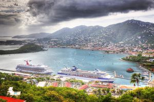 Cruise ships in a port, is there a storm brewing