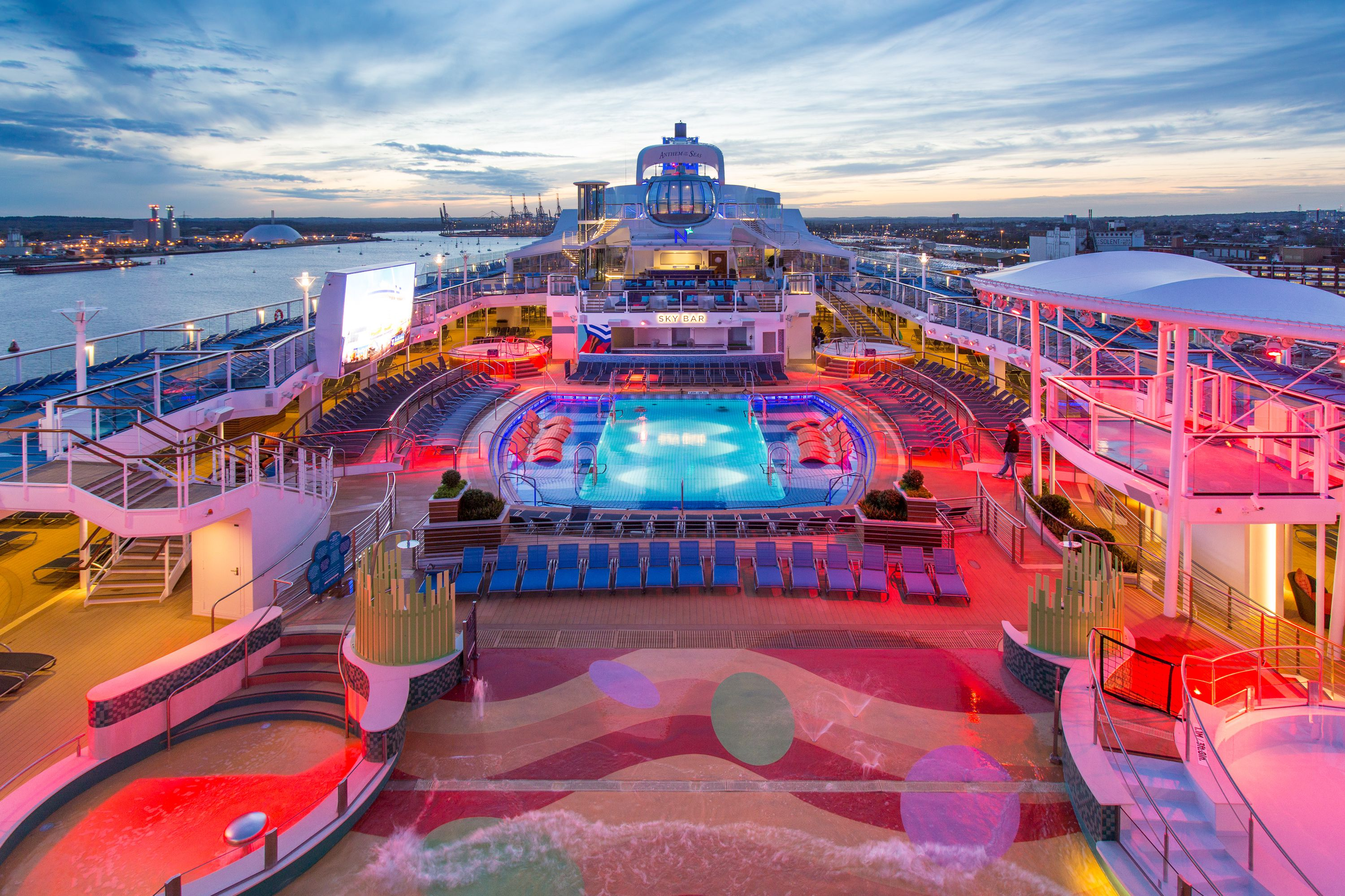 Anthem Of The Seas Outdoor Pool Decks And Exteriors