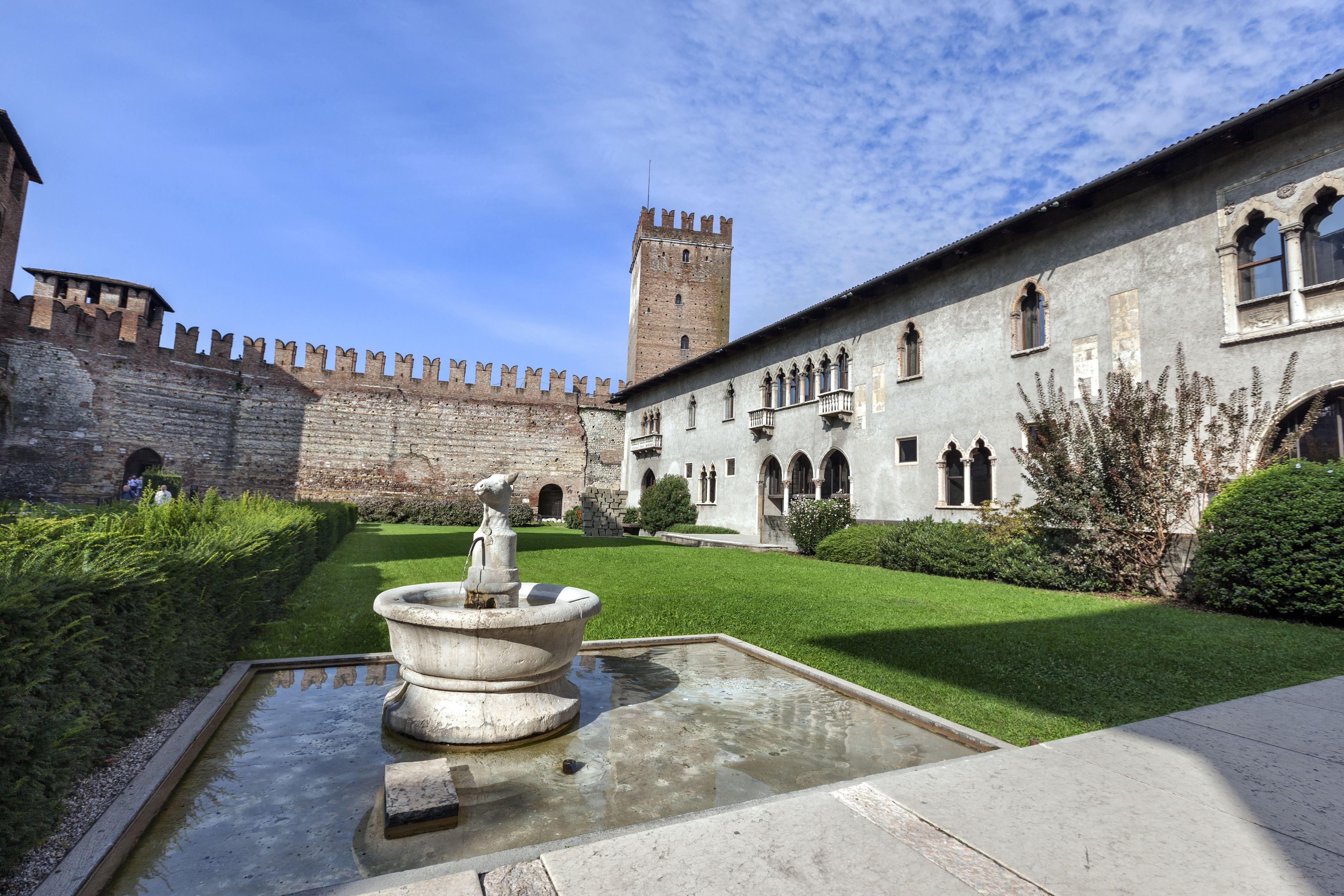 Inner courtyard of Castelvecchio
