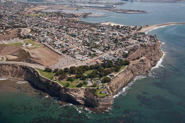 Vista aérea de San Pedro, CA
