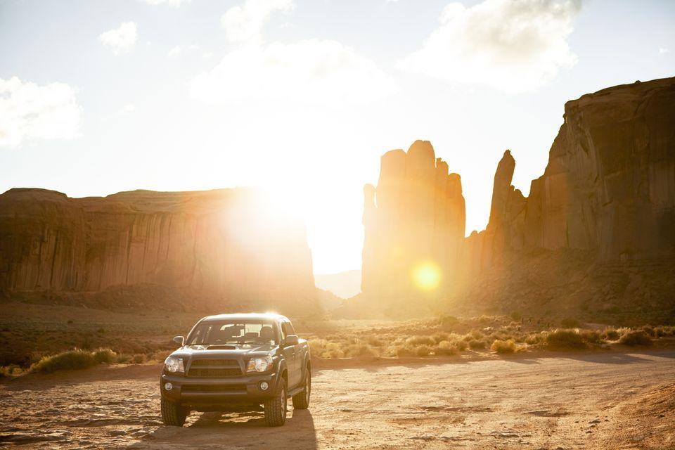 Arizona backdrop with a truck