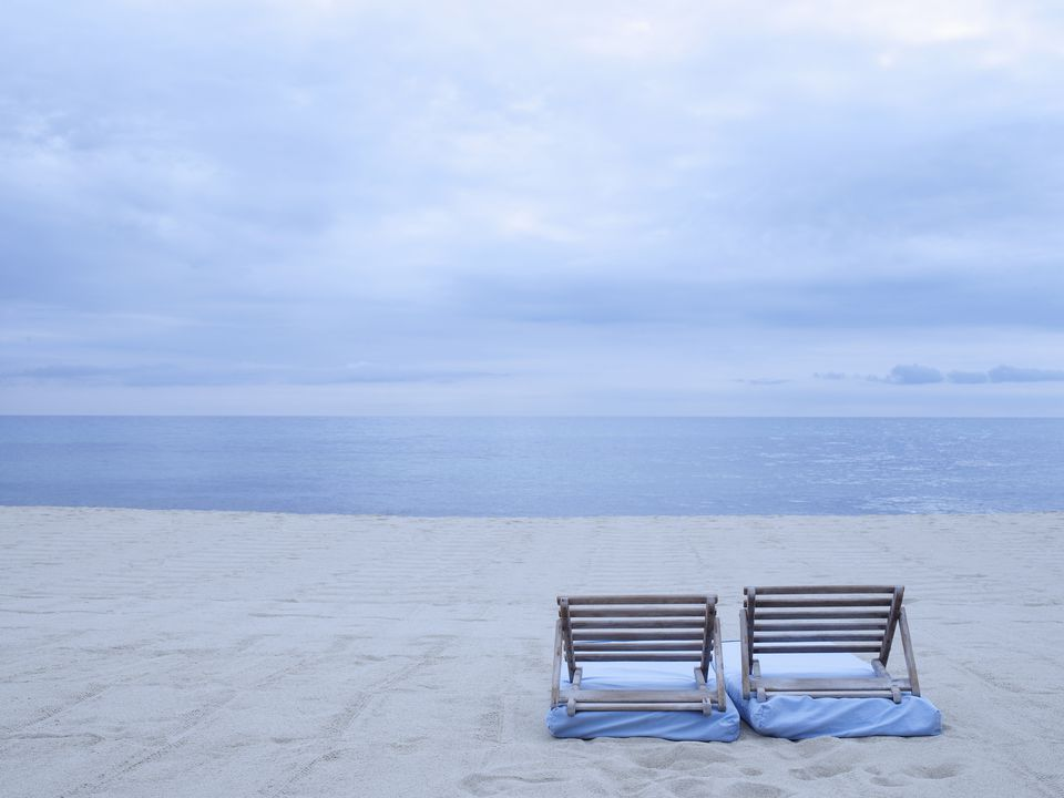 Beach and Chairs in St. Tropez, French Riveira