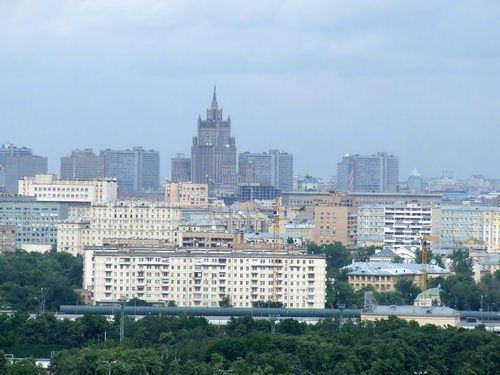 View of Downtown Moscow from Sparrow Hills
