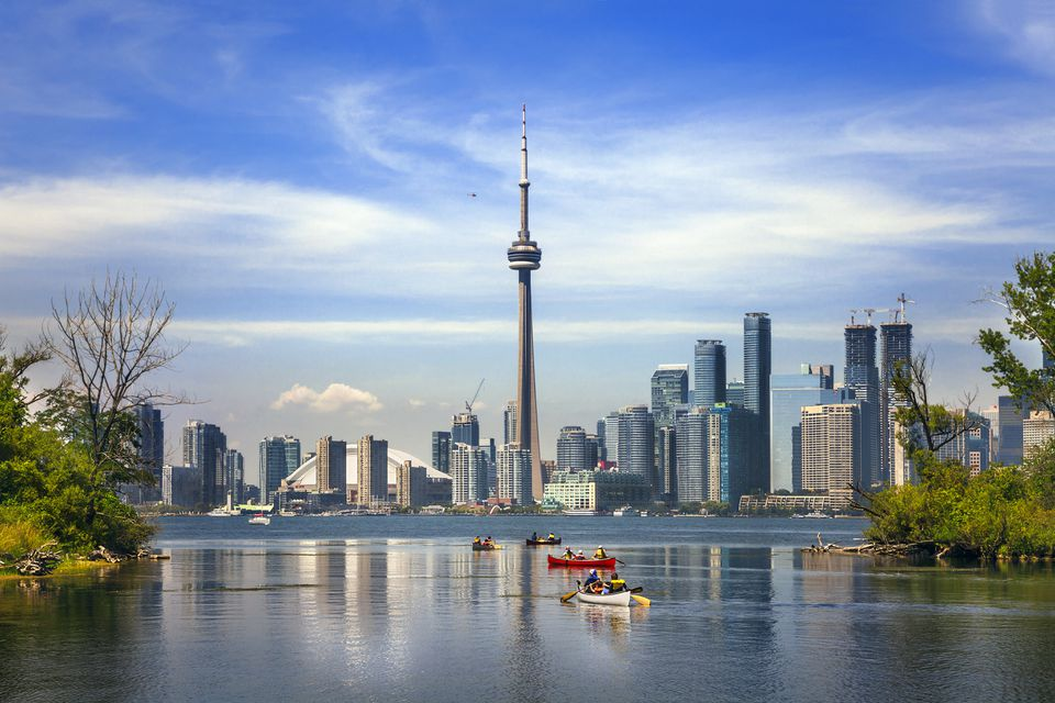 Boating in Lake Ontario, Toronto, Canada