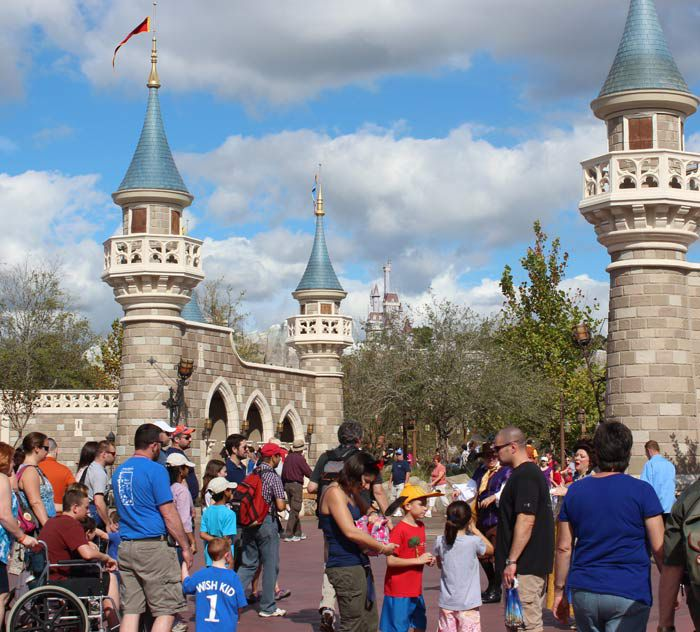 The entrance to New Fantasyland at the Magic Kingdom.