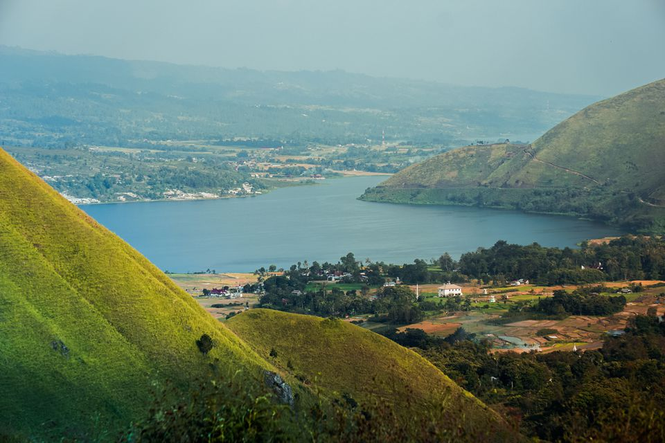 View of Lake Toba at Samosir Island in Sumatra