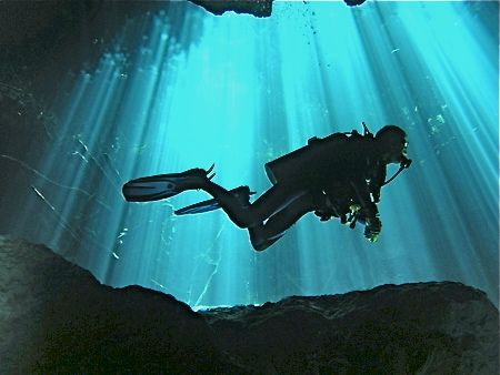 Cenote caves in Mexico lure scuba divers and snorkelers.