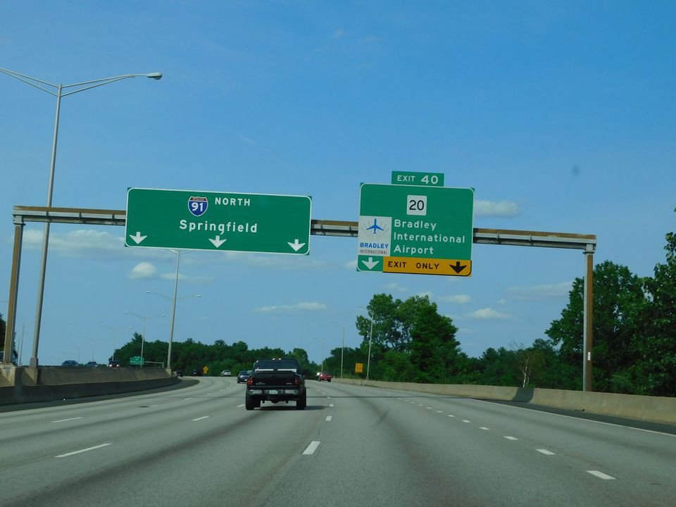 Bradley Airport Highway Exit Sign