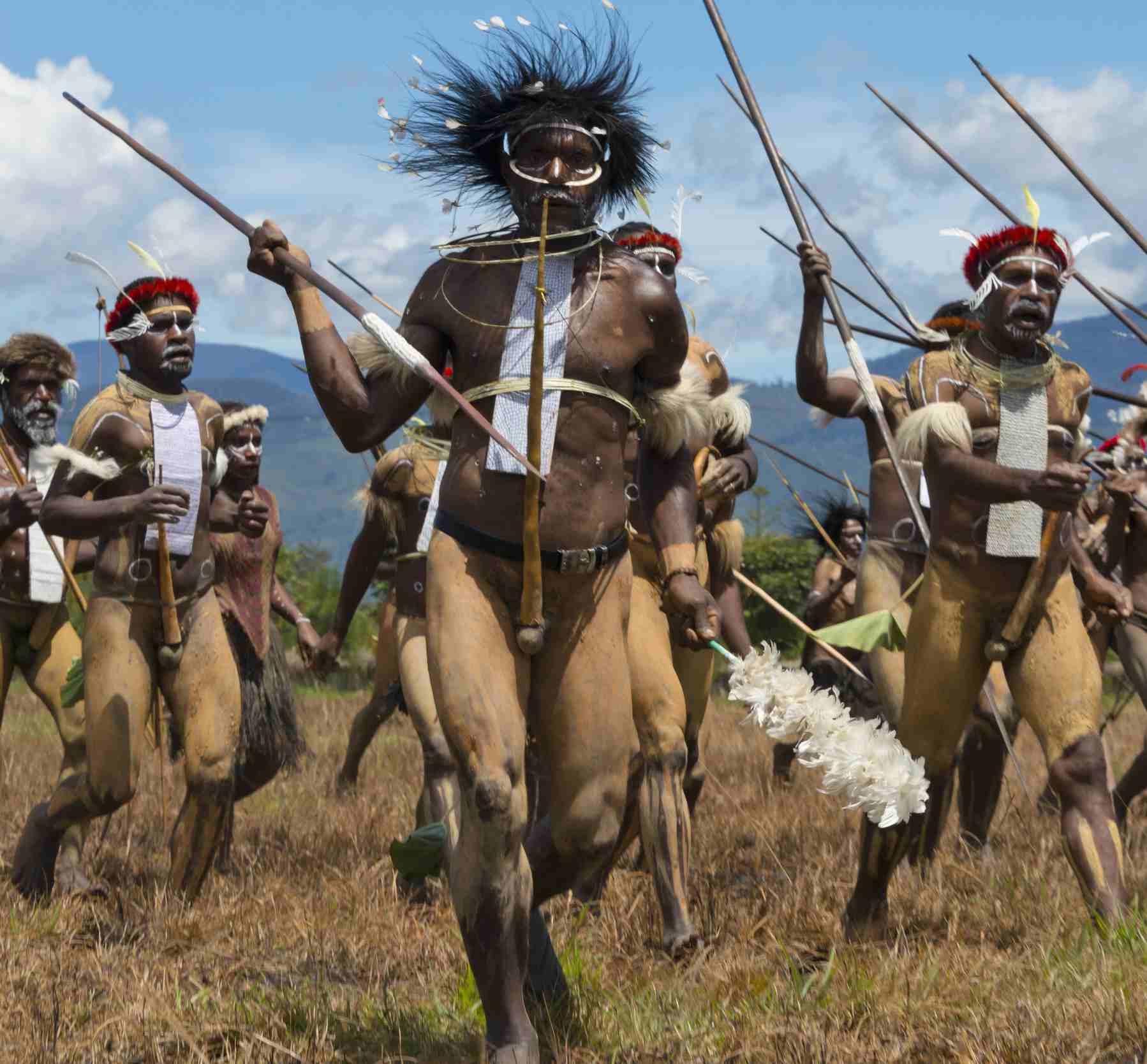 Baliem warriors, Indonesia